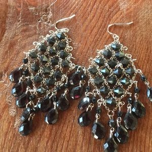 Jewelry - Beautiful Dark Amber Dangling Earrings